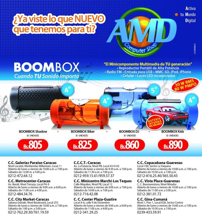 Precios especiales de Boombox en AMD Compuer Shop para el Dia del Padre