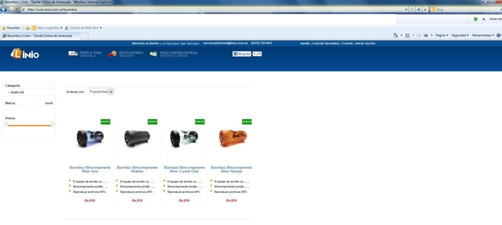 Compra en linea (online shopping)