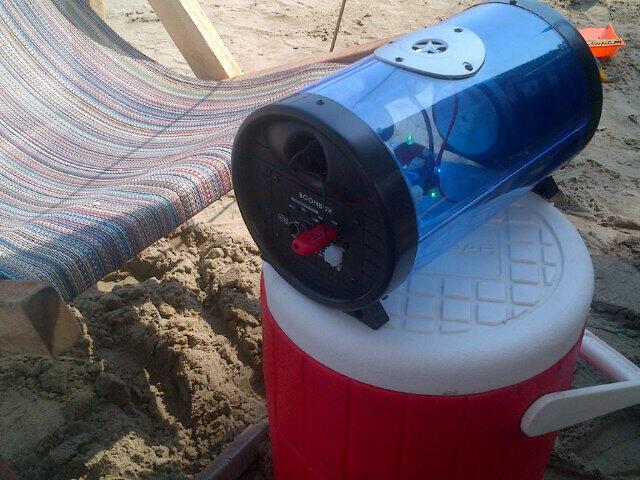 Boombox en la playa #rumbaportatil Boombox DJ